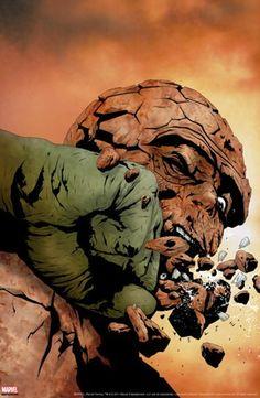 Hulk & Thing: Hard Knocks #3 Cover: Hulk and Thing Stretched Canvas Print