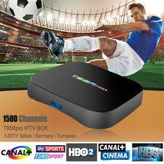 Octa Core Android Arab IPTV BOX T95RPRO Free 1500 Europe Arabic IPTV Channels S912 2GB16GB TV Box KODI WIFI H265 Media Player
