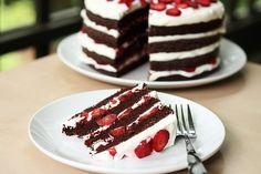 Chocolate Strawberry Cream Cake