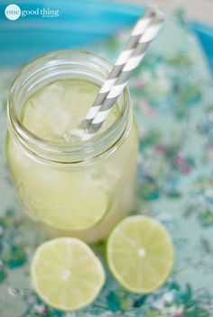 Sparkling Ginger Limeade - Zingy & Refreshing! - One Good Thing by Jillee