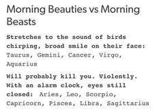 Uh no. I'm Cancer but no. I will kill you if you try to wake me up. I slept until three in the afternoon today actually