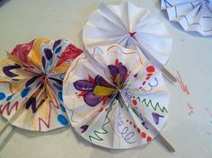Asia: Japanese Folding Fans - Even the Littles can fold away the summer heat!