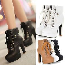 2014 autumn winte160mm heel lace up platform long boots women ...