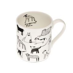 Margaret Mace's unique penwork gives this fine bone china mug a warm, lovable charm. This beautiful fine bone china mug is perfect for every Dog Lover Gifts, Gift For Lover, Miss Moss, Dog Varieties, Clay Cup, Chocolate Mugs, Dog Bones, China Mugs, Mug Designs