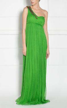 #ReduceriRochii de ocazie Nissa, -50% Rochie de seara Nissa Verde matase 100% naturala One Shoulder, Shoulder Dress, Formal Dresses, Romania, Fashion, Green, Dresses For Formal, Moda, Formal Gowns