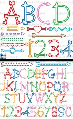 ♛♛ Arrow Alphabet Outline Color - Cutting files ♛♛  The designs are made by HaHaHaArt. Dont reproduce/copy the designs.  ••The files can be use with Silhouette and Cricut cutting machines. If you have other types of cutting machine, please ensure you are able to use this type of files (this is not for embroidering). ••The designs can be use in other projects (scrapbook, print, etc.) because the designs are saved as PNG and JPG files (same formats like photos)…