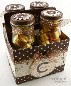 Starbucks bottles redone into little candy gifts.