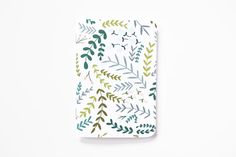Floral Pocket Journal | Hand Illustrated Pocket Notebook with Botanical Pattern : Garden Wreath Collection on Etsy, $6.00