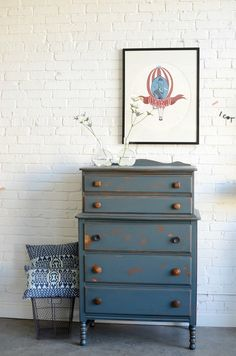 Tall chest of drawers named Ermintrude by knackstudio on Etsy, $625.00