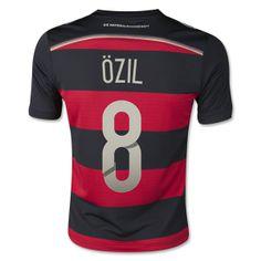 Germany 2014 OZIL Youth Away Soccer Jersey