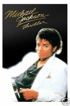 """MICHAEL JACKSON POSTER """"THRILLER"""" LICENSED """"BRAND NEW"""" - http://www.michael-jackson-memorabilia.co.uk/?p=7460"""