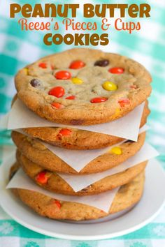 Peanut butter Reeses Pieces Cookies