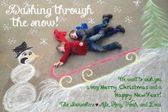 The Benscoters Christmas Card. Chalk art, drawn on our driveway with two talente… The Benscoters Christmas Card. Chalk art, drawn on our driveway with two talented subjects. Creative Christmas Cards, Christmas Card Pictures, Christmas Photo Cards, Xmas Cards, Christmas Photos, Family Christmas, Christmas Humor, Holiday Cards, Christmas Holidays