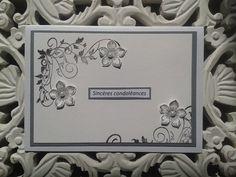 Une Carte de condoléances....