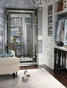 Love this but would seem wrong for the nicest room in my house to be a closet! Lol!