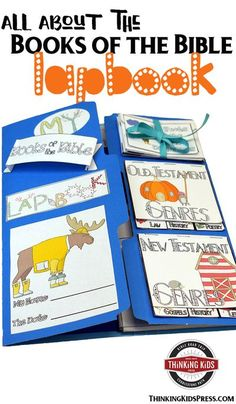 All About the Books of the Bible Lapbook Teach your kids all about the books of the Bible with this fun lapbook. They'll learn the order, authors, genres, and themes of every book of the Bible! via @DanikaCooley Bible Crafts For Kids, Bible Study For Kids, Bible Lessons For Kids, Bible Activities, Sabbath Activities, Character Activities, Art Therapy Activities, Christian Parenting, Teaching Kids