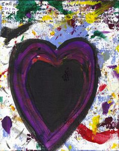 Unique Abstract Heart Painting Sloppy Heart No 12 by josephhkyle, $15.00    CLICK THE LINK TO LEARN THE STORY