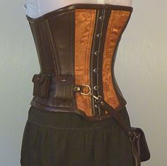 Copper Steampunk utility corset
