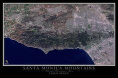 This crystal clear image was captured by the US Geological Survey's LANDSAT 8 platform in June of 2016. The scene depicts the beautiful Santa Monica coastline, Malibu, Topanga and the San Fernando Val