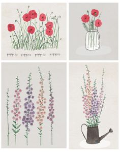 I Spy With My Little Eye: A Floral Pitch - illustrated by Katey Jean