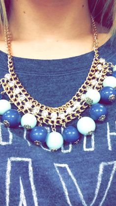 Cute statement #necklace #blue #fashion