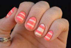 striped nails #naildesign #mani #nailart #manicure