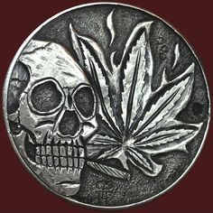 CHAD SMITH HOBO HALF DOLLAR - POT DED - 1964 KENNEDY HALF DOLLAR Hobo Nickel, Kennedy Half Dollar, Buffalo, Coins, Skull, Carving, Money, Day Of The Dead, One Day