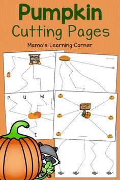 Pumpkin Cutting Pages