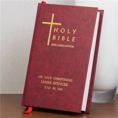 King James Bible with Personalized Burgundy Cover
