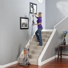 The Electrolux precision brushroll clean with exclusive brushroll clean technology removes tangled hair from the vacuum's brushroll and deposi . Electrolux Vacuum, Vacuum Reviews, Upright Vacuum Cleaner, Clean Technology, Types Of Flooring, Stairs, Cleaning, Tangled Hair