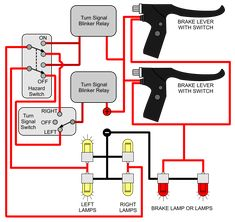 Image Wiring Diagram Of Motorcycle Installing Turn Signals Electricscooterparts Com Support Rh Support Electricscooterparts Com Turn Signal Parking Light Wiring Diagram Motorcycle Wiring, Motorcycle Lights, Motorcycle Logo, Car Learning, Scrambler Moto, Electric Motor For Car, Electrical Circuit Diagram, Tricycle Bike, Car Audio Systems