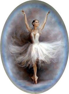 Ballet is beatyfull Ballet Painting, Ballet Art, Vintage Prints, Vintage Art, Ballerina Kunst, Decoupage Vintage, Victorian Art, China Painting, Portrait Art