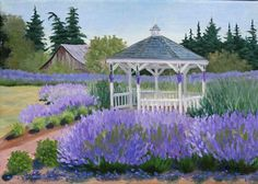 Oliver's Gazebo - Julie Peterson Oil Paintings (East Wenatchee, WA)