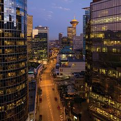 Vancouver B.C. hotels, restaurants, and attractions - Sunset