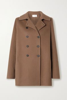 Light brown Saku double-breasted cashmere coat | The Row | NET-A-PORTER Best Winter Jackets, Just Style, Brown Shades, Cashmere Coat, Jacket Brands, Fashion Advice, Double Breasted, The Row, Menswear
