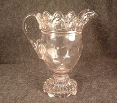 Circa 1894 EAPG Orion Thumbprint Pattern Cream Pitcher by Canton Glass Co.