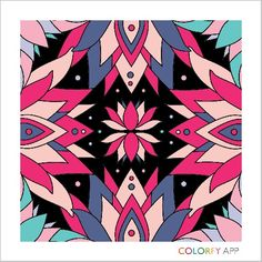 Adorable futurist touch by @paulinekerwin ! #colorfy #colorfyapp #getinspired