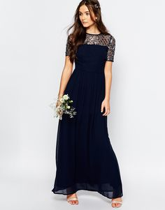 Buy Maya Chiffon Maxi Dress with Embellishment at ASOS. With free delivery and return options (Ts&Cs apply), online shopping has never been so easy. Get the latest trends with ASOS now. Maxi Skirt Tutorial, Maxi Dress Tutorials, Asos Black Dress, Maya, How To Dress For A Wedding, Girl Dress Patterns, Skirt Patterns, Blouse Patterns, Sewing Patterns