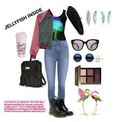 """jellyfish"" by polaroidandfashion ❤ liked on Polyvore featuring Paige Denim, Dr. Martens, Tomas Maier, Gucci, CÉLINE, Victoria's Secret, Bobbi Brown Cosmetics, ban.do and Benzara"