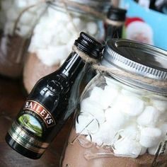 gift idea for a Hot Chocolate Date! Get a small jar & fill it w/ cocoa ...