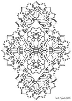 113 | Printable Intricate Mandala Coloring Pages, Instant Download, PDF, Mandala Doodling Page, Adult Coloring Pages, Kids Coloring Pages