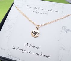 Compass Charm BRACELET friendship bracelet GOLD or by BriguysGirls, $28.00
