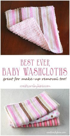 Baby Washcloth Tutorial - Baby Washcloth Tutorial With flannel on one side and chenille on the other, these are the best washcloths ever! Diy Baby Gifts, Baby Crafts, Baby Shower Gifts, Homemade Baby Gifts, Sew Gifts, Kids Gifts, Baby Sewing Projects, Sewing For Kids, Baby Sewing Tutorials