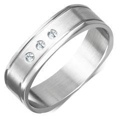 Ocelový prsten Insight, Jewelry Box, Wedding Rings, Engagement Rings, Jewellery Box, Enagement Rings, Jewelry Storage, Wedding Ring, Pave Engagement Rings