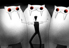 EasyBros by CottonValent on DeviantArt Creepy Cat, Paper Illustration, Character Design, Animation, Cartoon, Disney Characters, Drawings, Stick Man, Anime Meme