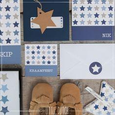 Little Dutch Mixed stars blue  #littledutch #little #dutch  #geboortekaartje #liefleukeneigen #birthannouncement #card #blue #blauw #mockies @LiefLeukenEigen