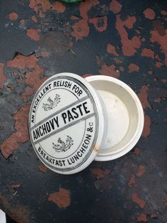 Anchovy Paste jar found at Ardingly antiques fair.