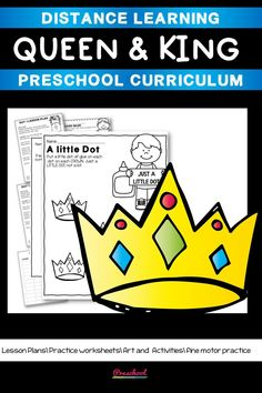 This Queens Preschool packet is a wonderful way for your preschool or pre-k kids to work on basic literacy and math and fine motor skills. These no-prep printables are great for distance learning or in class centers and stations. Preschool Curriculum, Preschool Printables, Preschool Worksheets, Preschool Learning, Printable Worksheets, Homeschool, Teaching, Everything Preschool, Toddler Age