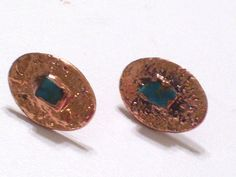 Rare Vintage BELL Copper Genuine Turquoise Chunk by TheCopperCat, $27.00
