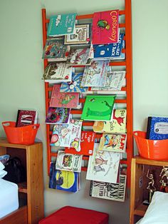 Crib side turned it into book storage